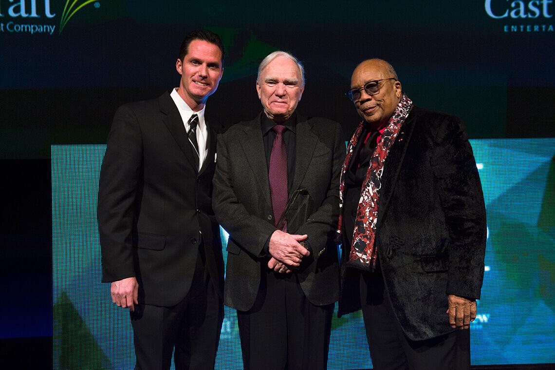Final Draft President Scott McMenamin, Robert McKee, Quincy Jones
