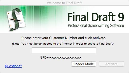 final draft 8 keygen serial crack