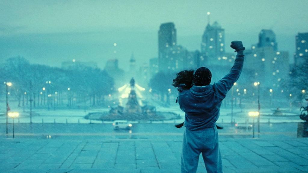 Rocky Balboa with dog Movie training montage