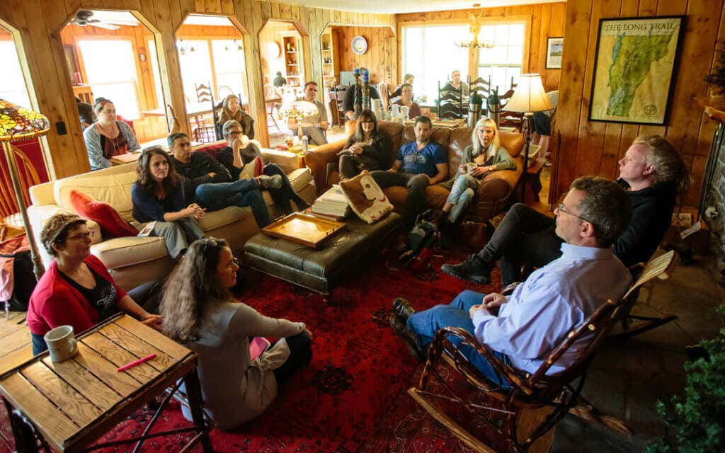 Stowe Story Lab Founders David Rocchio and David Pope Mentors Group