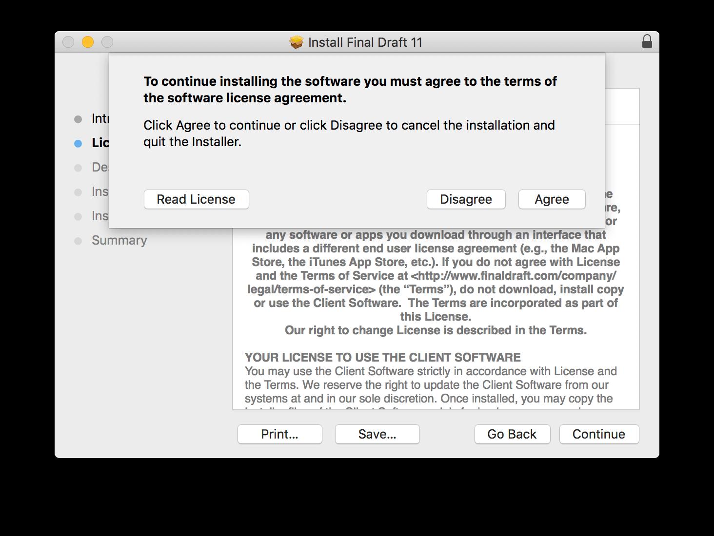 Install Final Draft 11 | Macintosh | Final Draft®