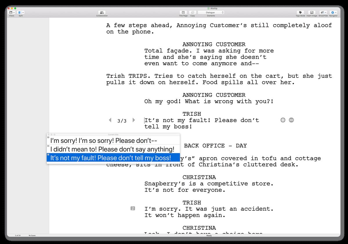 final draft tutorial mac